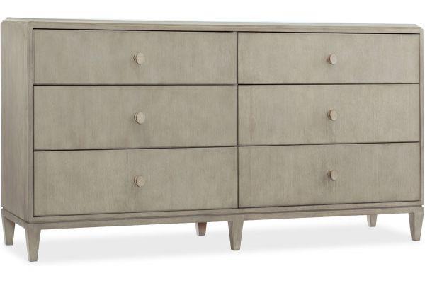 Large image of Hooker Furniture Bedroom Elixir Six-Drawer Dresser - 5990-90002-LTWD