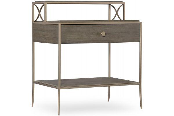 Large image of Hooker Furniture Bedroom Elixir Leg Nightstand - 5990-90116-DKW