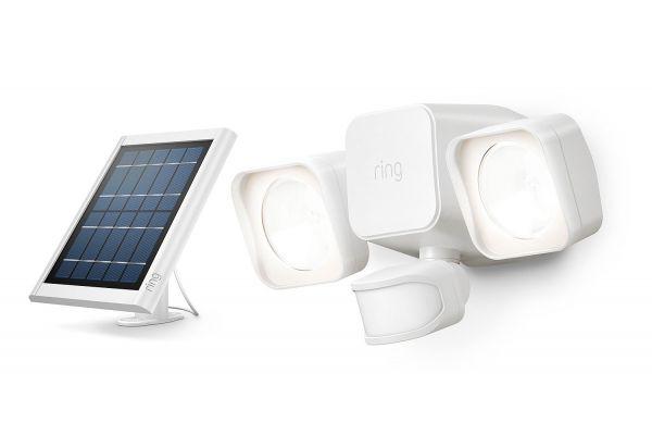 Large image of Ring Smart Lighting White Solar Floodlight - B07YP9W129