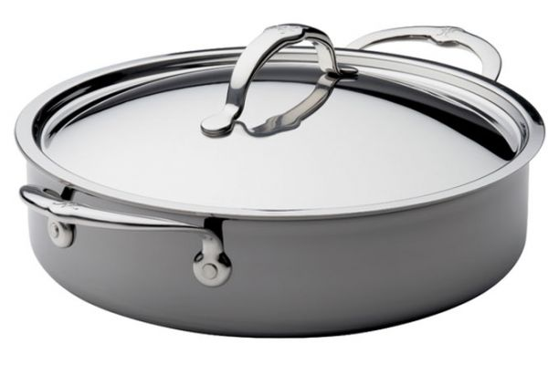 Large image of Hestan Nanobond 3.55 Qt. Stainless Steel Sauteuse With Lid - 60027
