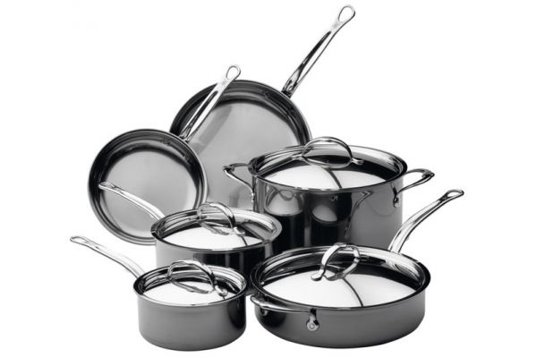 Large image of Hestan Nanobond Stainless Steel 10-Piece Cookware Set - 60034