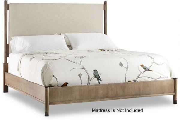 Large image of Hooker Furniture Bedroom Affinity King Upholstered Bed - 6050-90966-GRY