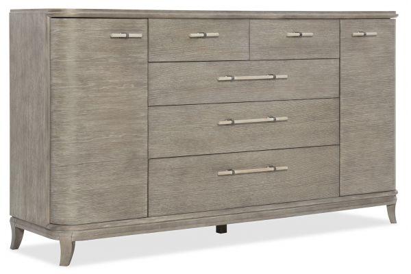Large image of Hooker Furniture Affinity Greiger Oak Server - 6050-75907-GRY