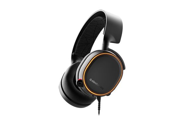 Large image of SteelSeries Arctis 5 Black Wired Gaming Headset - 61504