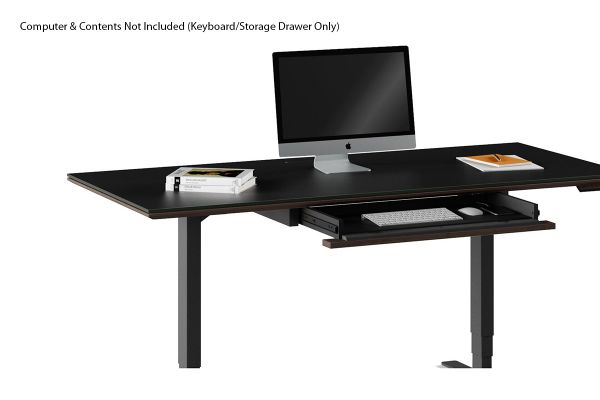 Large image of BDI Sequel 20 6159 Charcoal Stained Ash Keyboard/Storage Drawer - 6159 CRL