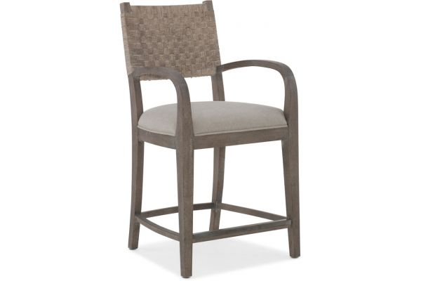 Hooker Furniture Dining Room Miramar Carmel O'Keefe Counter Stool - 6200-25350-GRY