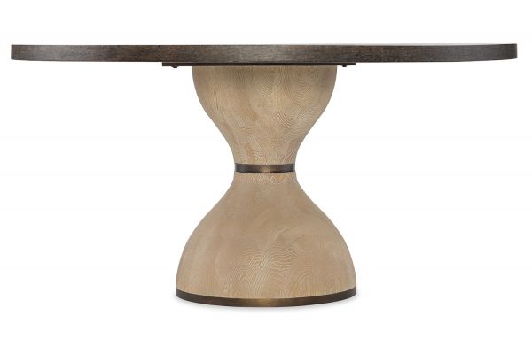 "Large image of Hooker Furniture Miramar Point Reyes 60"" Botticelli Dark Wood Round Dining Table - 6201-75203-MULTI"