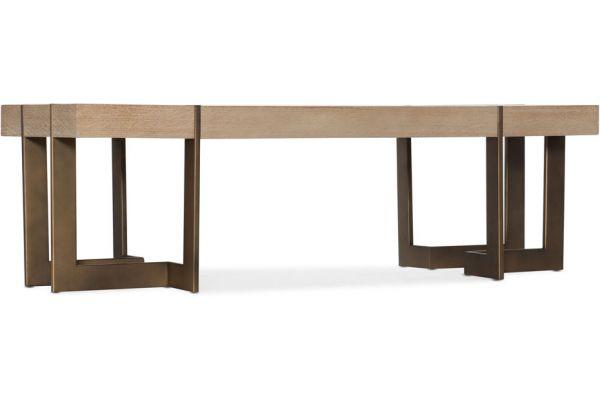 Large image of Hooker Furniture Living Room Miramar Point Reyes Max Rectangular Cocktail Table - 6201-80110-MULTI