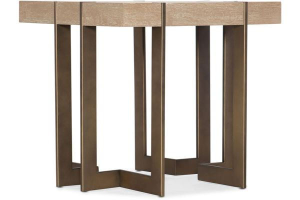 Hooker Furniture Living Room Miramar Point Reyes Max Square End Table - 6201-80113-MULTI