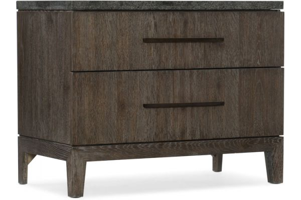 Large image of Hooker Furniture Bedroom Miramar Aventura San Marcos Stone Top Nightstand - 6202-90015-DKW