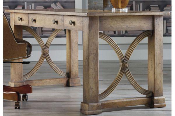 Large image of Hooker Furniture Light Wood Home Office Melange Architectural Writing Desk - 638-10005