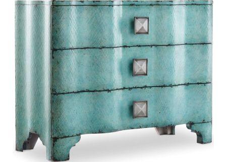 Hooker Furniture Living Room Melange Turquoise Crackle Chest - 638-85016