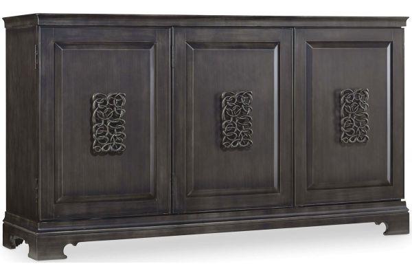 Large image of Hooker Furniture Living Room Charcoal Gray Melange Brockton Credenza - 638-85056