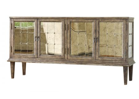 Hooker Furniture Living Room Medium Wood DeVera Mirrored Console - 638-85082