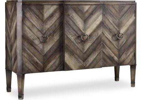 Hooker Furniture Living Room Medium Wood Chevron Console - 638-85092