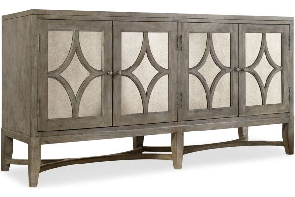 Large image of Hooker Furniture Living Room Light Wood Diamante Console - 638-85102
