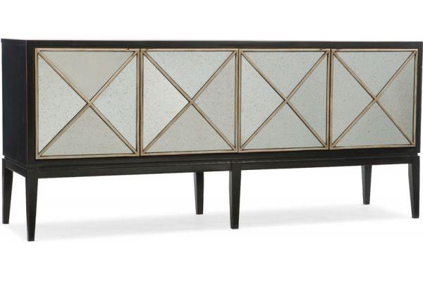 Large image of Hooker Furniture Home Entertainment Melange Jova Four-Door Credenza - 638-85306-CHP