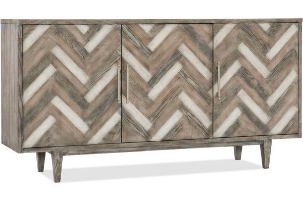 Large image of Hooker Furniture Melange Natural Beauty Credenza & TV Stand - 638-85389-MWD