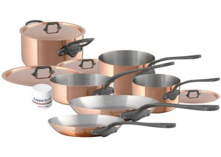 Mauviel M150C2 10 Piece Copper And Stainless Steel Cookware Set - 6450.06