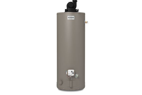 Large image of Reliance 50 Gallon Short Power Vent Natural Gas Water Heater - 650YBVIS