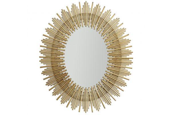 Arteriors Prescott Antiqued Gold Leaf Large Oval Mirror - 6561