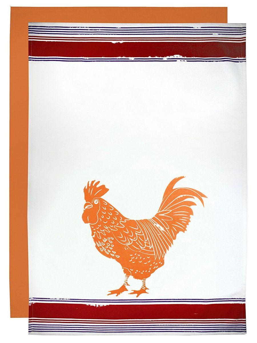 MUkitchen Cotton Flour Sack Rooster Towel Set