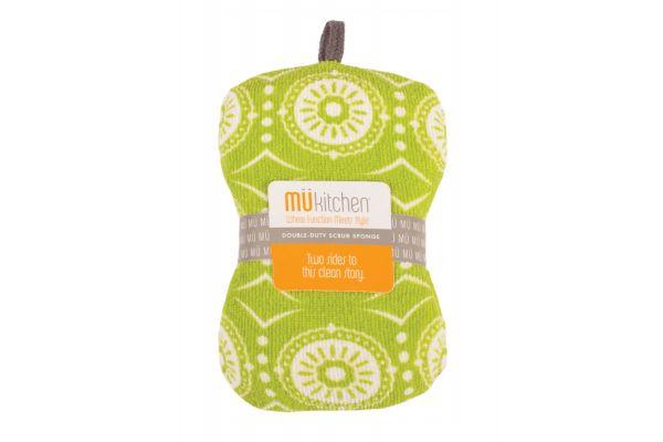 Large image of MUkitchen Marrakesh Green Scrub Sponge - 66081444