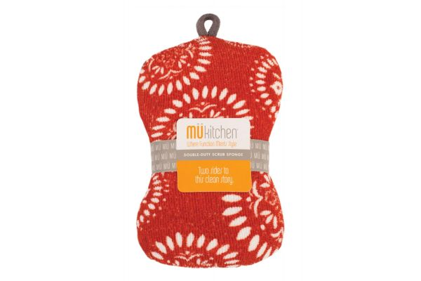 MUkitchen Medallion Red Scrub Sponge - 66081546