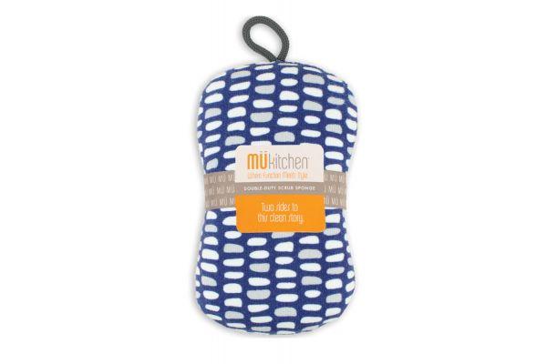 Large image of MUkitchen Stones Blue Scrub Sponge - 66081945