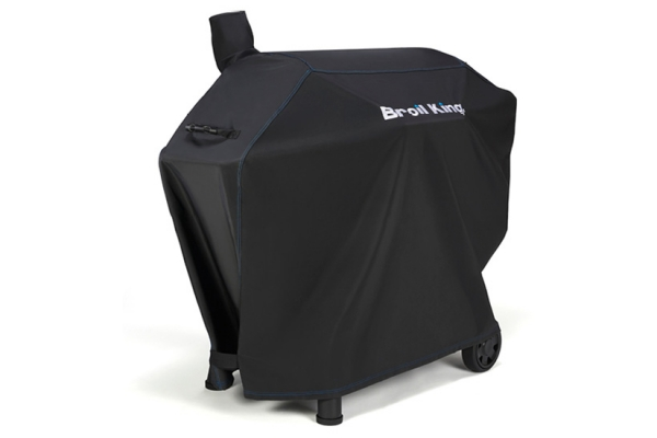 """Large image of Broil King 55"""" Black Premium PVC Polyester Grill Cover - 67065"""