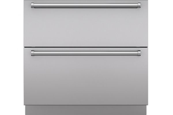 """Large image of Sub-Zero 36"""" Integrated Stainless Steel Drawer Panels With Pro Handles - 7025310"""