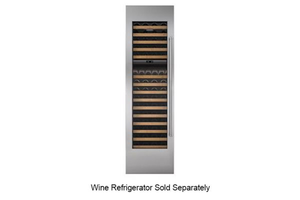 """Large image of Sub-Zero Integrated Stainless Steel 24"""" Wine Storage Door Panel With Pro Handle - 7025339"""