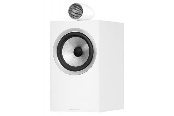Large image of Bowers & Wilkins 700 Series Satin White 2-Way Bookshelf Speakers (Pair) - FP39446