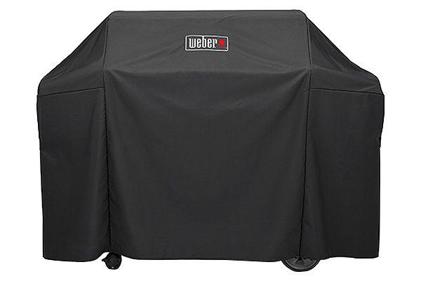 Large image of Weber Genesis II Premium Black 4 Burner Grill Cover - 7131
