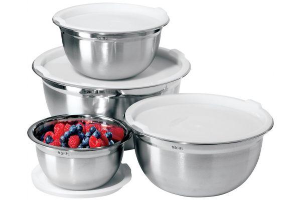 Large image of Oggi Two Tone Stainless Steel Mixing Bowl Set - 7294