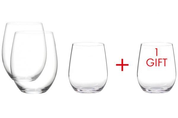 Riedel O Wine Tumbler Viognier/Chardonnay & Cabernet/Merlot Glass Set - 7414/50