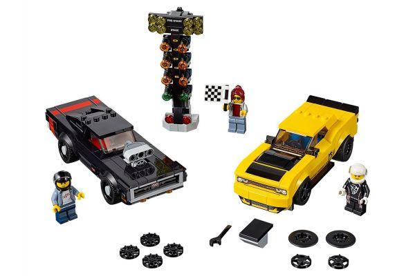 LEGO Speed Champion 2018 Dodge Challenger SRT Demon And 1970 Dodge Charger R/T - 75893
