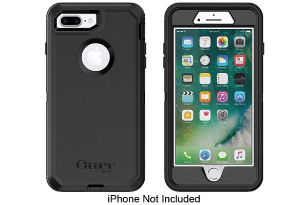 Otterbox Black Defender Series Case For Apple iPhone 7/8 Plus - 77-56825