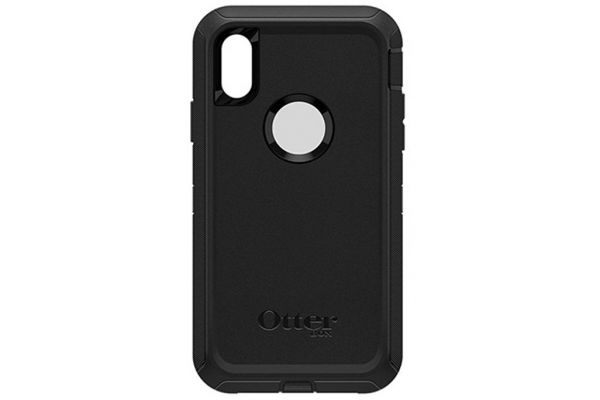 Large image of Otterbox Black Defender Series Screenless Edition Case For Apple iPhone XR - 77-59761