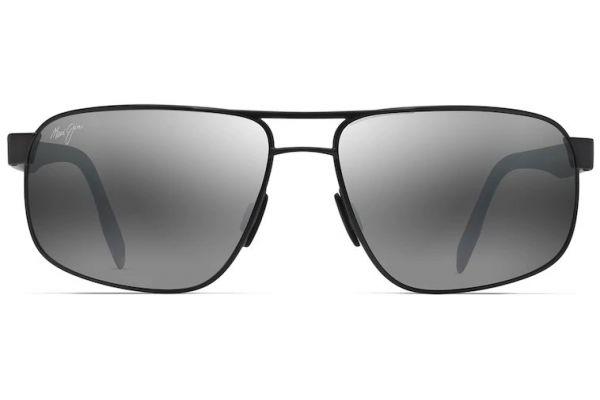 Maui Jim Whitehaven Dark Gunmetal Polarized Rectangular Sunglasses - 776-02S