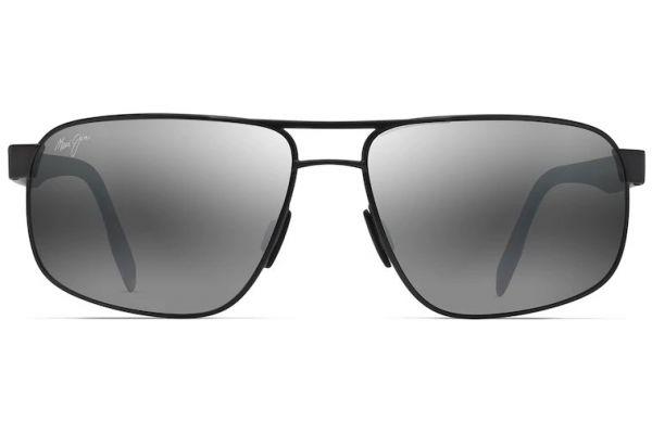 Large image of Maui Jim Whitehaven Dark Gunmetal Polarized Rectangular Sunglasses - 776-02S