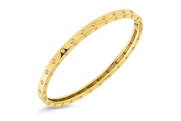 Roberto Coin 18KT Gold Symphony Pois Moi Oval Bangle - 7771358AYBA0