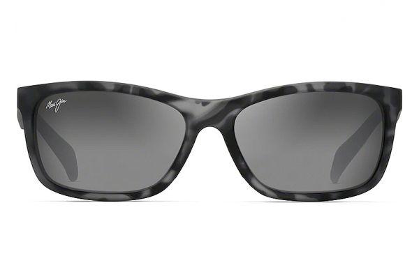 Large image of Maui Jim Puhi Grey Tortoise Matte Rubber Polarized Wrap Womens Sunglasses - 785-11TM