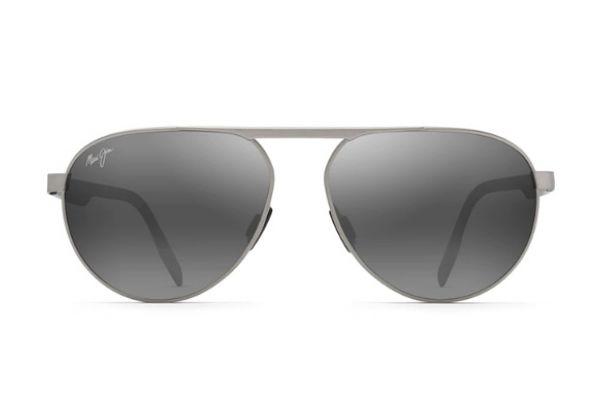 Large image of Maui Jim Neutral Grey Swinging Bridges Polarized Aviator Sunglasses - 78714