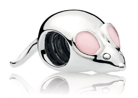 PANDORA Pink Enamel Cute Mouse Charm - 797062EN160