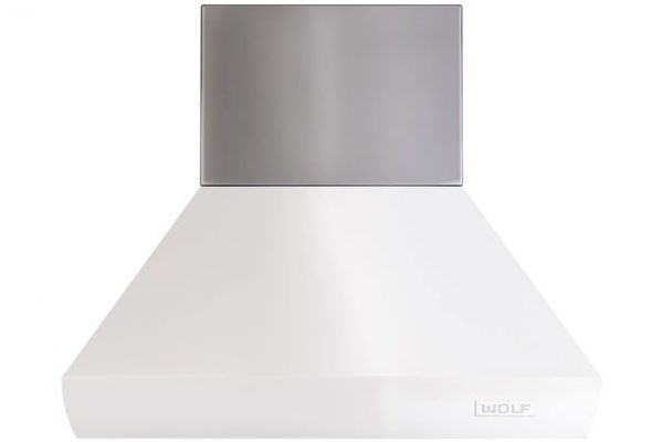 "Large image of Wolf 12"" Stainless Steel Pro Island Hood Duct Cover - 811613"