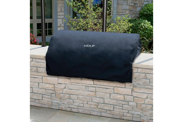 Large image of Wolf Outdoor Canvas Grill Cover - 814734