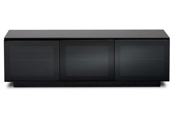 Large image of BDI Semblance 8237 Black Triple-Width AV Cabinet - 8237-B