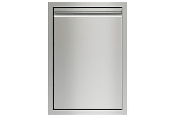 """Large image of Wolf 18"""" Stainless Steel Double Trash/Recycle Drawer - 827370"""