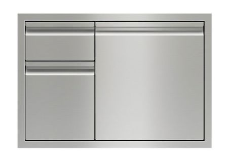 """Wolf 30"""" Stainless Steel Combination Double Drawers And Door Storage - 827607"""
